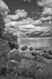 California, Lake Tenaya (BW) Art Print