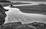 California, Mendocino Jughandler Creek (BW) Art Print