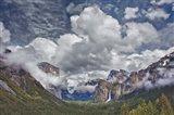 Bridalveil Falls Cloudscape, California Art Print