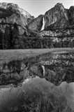Reflective Pool In Upper Yosemite Falls (BW) Art Print