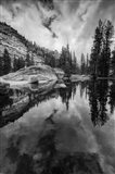 Reflective Lake At Yosemite NP (BW) Art Print