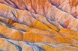 Eroded Hills Below Zabriskie Point Art Print