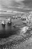 Rocky Coastline At Soberanes Point (BW) Art Print