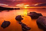 Sunset At Soberanes Point Art Print