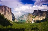 Panoramic View Of Yosemite Valley Art Print