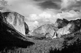 Panoramic View Of Yosemite Valley (BW) Art Print