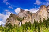 Bridalveil Fall And The Leaning Tower Art Print