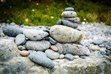 Stacked Rocks On Sand Dollar Beach Art Print