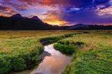 Sunset Over Tuolumne Meadows Along Budd Creek Art Print