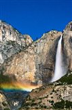 Moonbow And Starry Sky Over Yosemite Falls, California Art Print