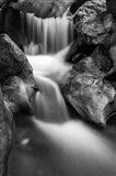 Cascade On Hare Creek (BW) Art Print