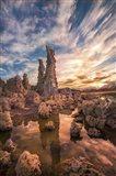 Tufas At Sunset On Mono Lake Art Print