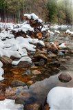 Merced River Rocks, Yosemite, California Art Print