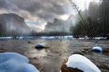 Merced River, El Capitan in background, Yosemite, California Art Print