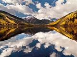 Fall Reflections On Crystal Lake Art Print