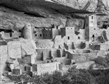 Cliff Palace, Mesa Verde, Colorado (BW) Art Print