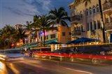 Ocean Drive In South Beach, Florida Art Print