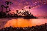 Sunset Over Pu'uhonua O Honaunau National Historic Park, Hawaii Art Print