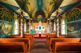 Interior Of St Benedict's Painted Church, Hawaii Art Print