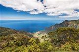 Landscape View From Kalalau Lookout, Hawaii Art Print