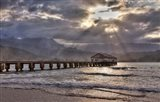 Hanalei Pier At Sunset, Maui, Hawaii Art Print