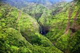 Waterfalls Of Kauai, Hawaii Art Print