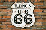 Dirty Illinois Route 66 Sign Art Print