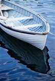 Dinghy Moored At Dock, Rockport, Maine Art Print