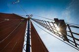 Tall Schooner Rigging, Cape Ann, Massachusetts Art Print
