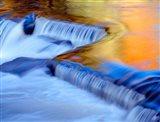 Water Reflecting Fall Foliage, Ontonagon River Art Print