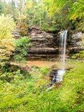 Munising Falls In Autumn, Michigan Art Print
