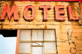 Old Motel Sign, Route 66 Art Print