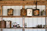 Rusted Antique Metal Cans, Route 66 Art Print