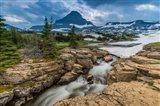 Snowmelt Stream In Glacier National Park, Montana Art Print
