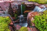 Triple Falls, Glacier National Park, Montana Art Print
