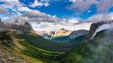 Panorama Of Logan Pass, Glacier National Park, Montana Art Print