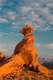 Sunset On Balancing Rock, Nevada Art Print