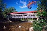 Covered Albany Bridge Over the Swift River, New Hampshire Art Print