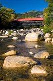 Covered bridge, Swift River, New Hampshire Art Print