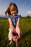 Child, blueberries, Alton, New Hampshire Art Print