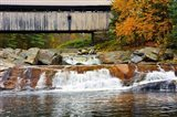 Covered bridge over Wild Ammonoosuc River, New Hampshire Art Print