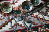 Display Of Turquoise Accessories, Santa Fe, New Mexico Art Print