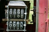 Antique Gas Pump Counting Machine, Tucumcari, New Mexico Art Print