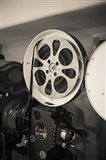 Vintage Film Projector At The Kimo Theater, New Mexico Art Print