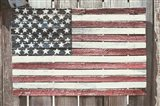 Worn Wooden American Flag, Fire Island, New York Art Print