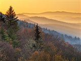 Sunrise From The Oconaluftee Valley Overlook, North Carolina Art Print