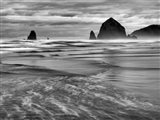 Cannon Beach, Oregon (BW) Art Print
