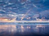 Sunset From North Jetty Beach, Oregon Art Print