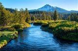 Mt Bachelor And The Deschutes River, Oregon Art Print