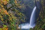 Autumn At Metlako Falls On Eagle Creek, Oregon Art Print